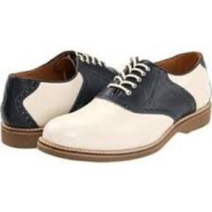 Johnston & Murphy Navy Saddle Oxford 8